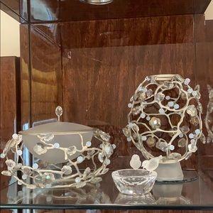Swarovski limited edition glass jar and vase set